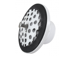 Universal drain outlet with convex stainless steel sieve, G 1½