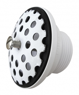 Universal drain outlet with convex stainless steel sieve, G 1¼